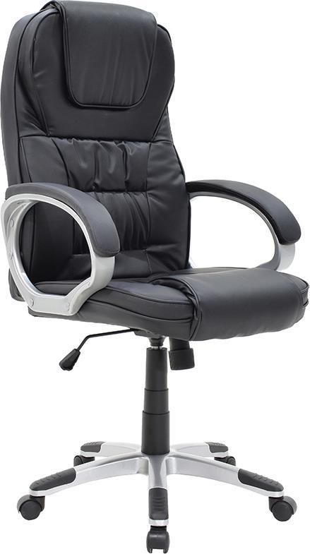 Pakoworld Καρέκλα Batler Δερματίνη μαύρο | apothema.gr