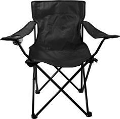 Abbey Camp Καρέκλα Παραλίας Αναδιπλούμενη (μαύρη)