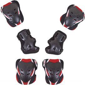 Amila 49037 Protector Set Μαύρο/Κόκκινο M