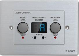 Apart Audio Zone-4R Remote Control Panel