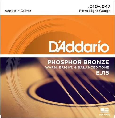 ΧορδέςD AddarioEJ-15 Ακουστικής Κιθάρας