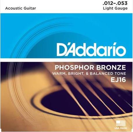 ΧορδέςD AddarioEJ-16 Ακουστικής Κιθάρας