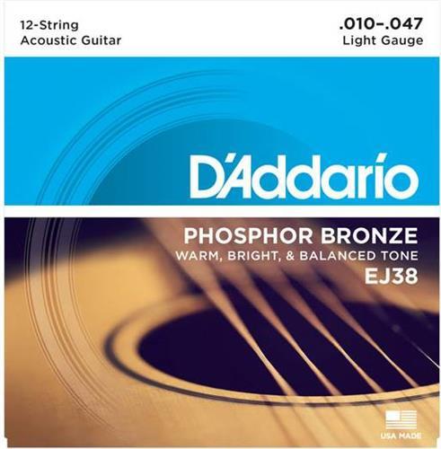 ΧορδέςD AddarioΕJ-38 Ακουστικής 12χορδης Κιθάρας