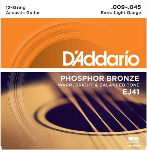 ΧορδέςD AddarioEJ-41 Ακουστικής 12χορδης Κιθάρας