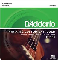 D Addario EJ65S Clear Nylon Soprano Σετ Χορδών για Ukulele