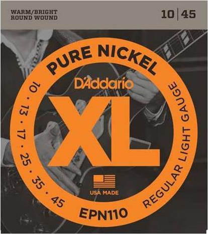ΧορδέςD AddarioEPN-110 Ηλεκτρικής Κιθάρας Pure Nickel, Regular Light
