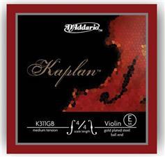 D Addario K420B-3 E Kaplan Medium Βιολιού Μι