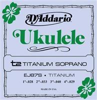 D Addario Ukulele EJ 87S Titanium