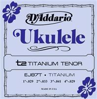 D Addario Ukulele EJ 87T Titanium