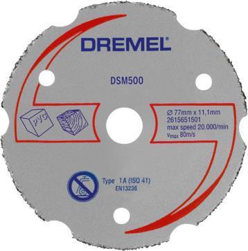 Αξεσουάρ ΕργαλείωνDremelDSM500 Δίσκος Κοπής Καρβιδίου Πολλαπλής Χρήσης για DSM20