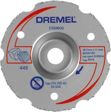 Αξεσουάρ ΕργαλείωνDremelDSM600 Δίσκος Ισόπεδης Κοπής Καρβιδίου Πολλαπλής Χρήσης για DSM20
