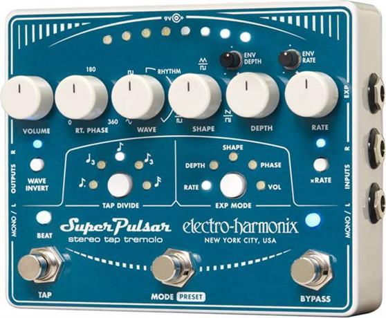 Εφέ & ΠετάλιαElectro-HarmonixSuper Pulsar Stereo Tap Tremolo Πετάλι