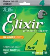 Elixir 14677 Nanoweb Medium Ηλεκτρικού Μπάσου