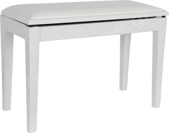 Κάθισμα ΠιάνουEurolegnoP-07 PWH Λευκό Γυαλιστερό