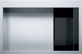 Franke Crystal Line CLV 210 Αντιστρεφόμενος Λείος Μαύρο