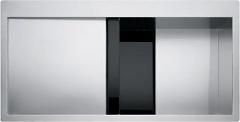 Ένθετος ΝεροχύτηςFrankeCrystal Line CLV 214 ΡΑ Λείος Μαύρο
