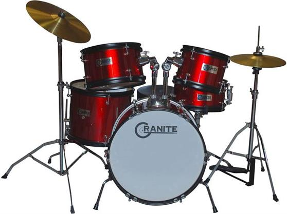 Ακουστικό Drum SetGraniteRock Red