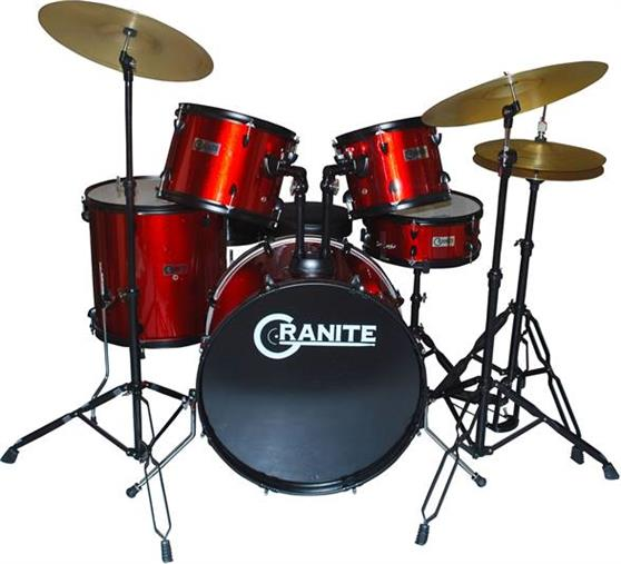 Ακουστικό Drum SetGraniteRockbeat Red