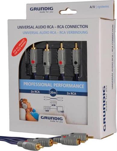 ΚαλώδιοGrundigAudio Connection (L+R)/0,75m