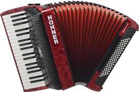 Hohner Bravo III 80 Silent Key Κόκκινο