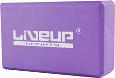 Live Up Yoga Block Τουβλάκι Β 3233Α 23x14x7,5cm Μωβ