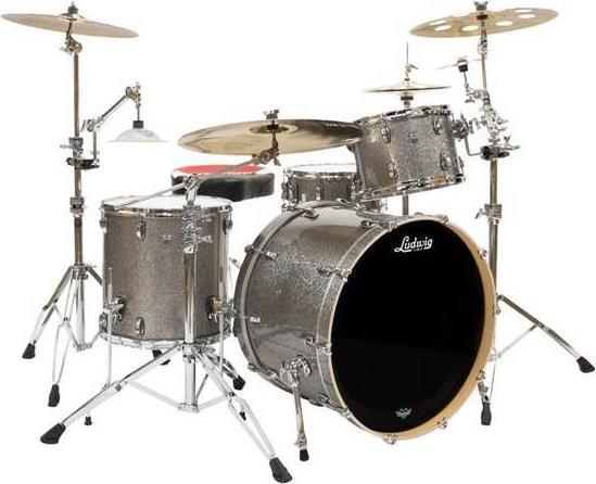 Ακουστικό Drum SetLudwigL7043AX2A Keystone X Titanium Glitter