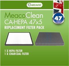 Meaco Σετ Φίλτρα HEPA, Ενεργού Aνθρακα για Clean CA-HEPA 47x5