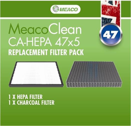 Αξεσουάρ & Ανταλλακτικά MeacoΣετ Φίλτρα HEPA, Ενεργού Aνθρακα για Clean CA-HEPA 47x5