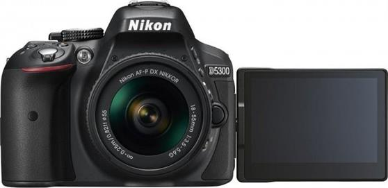 DSLR Nikon D5300 18-55DX Black Kit + κάρτα μνήμης 16GB ultra