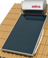 Nobel Aelios 160lt/2.6m² Glass CUS Επιλεκτικός Διπλής Ενέργειας Κεραμοσκεπής