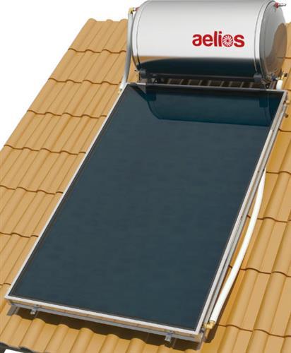 Επιλεκτικού ΣυλλεκτηNobelAelios 160lt/2.6m² Glass CUS Επιλεκτικός Τριπλής Ενέργειας Κεραμοσκεπής