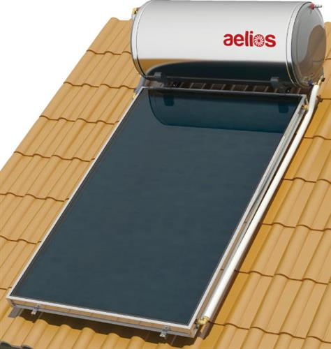 Επιλεκτικού ΣυλλεκτηNobelAelios 200lt/2.6m² Glass ALS Επιλεκτικός Διπλής Ενέργειας Κεραμοσκεπής