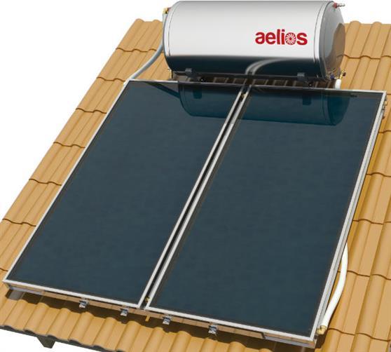 Επιλεκτικού ΣυλλεκτηNobelAelios 200lt/4.0m² Glass ALS Επιλεκτικός Τριπλής Ενέργειας Κεραμοσκεπής