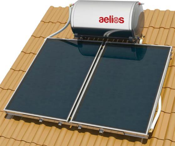 Επιλεκτικού ΣυλλεκτηNobelAelios 200lt/4.0m² Glass CUS Επιλεκτικός Διπλής Ενέργειας Κεραμοσκεπής