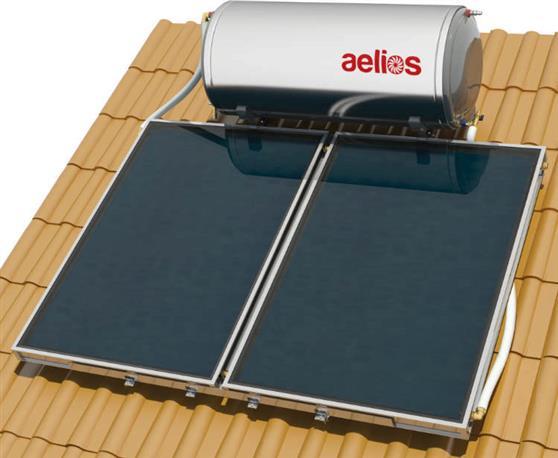 Επιλεκτικού ΣυλλεκτηNobelAelios 300lt/5.2m² Glass ALS Επιλεκτικός Διπλής Ενέργειας Κεραμοσκεπής