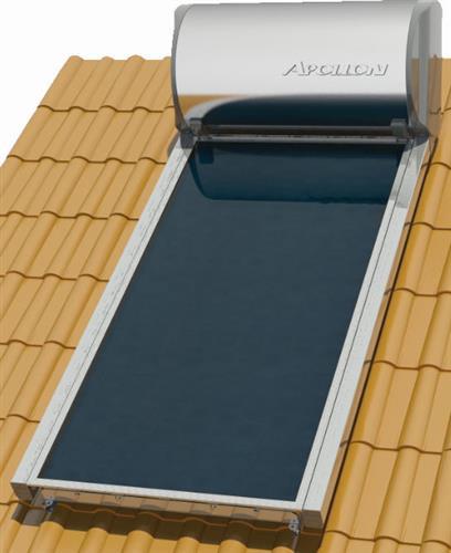 Επιλεκτικού ΣυλλεκτηNobelApollon 160lt/2.0m² Glass Επιλεκτικός Τριπλής Ενέργειας Κεραμοσκεπής