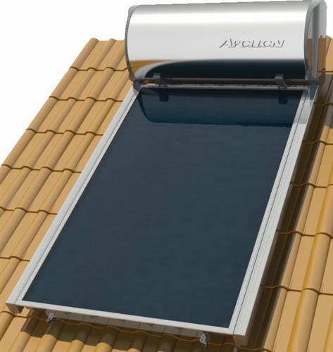 Επιλεκτικού ΣυλλεκτηNobelApollon 200lt/2.6m² Glass Επιλεκτικός Διπλής Ενέργειας Κεραμοσκεπής