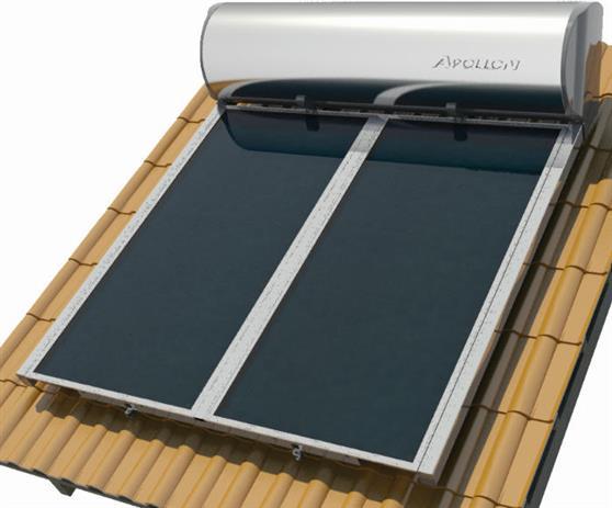 Επιλεκτικού ΣυλλεκτηNobelApollon 320lt/4.0m² Glass Επιλεκτικός Τριπλής Ενέργειας Κεραμοσκεπής