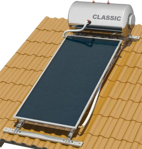 Επιλεκτικού ΣυλλεκτηNobelClassic 120lt/2.0m2 Glass Επιλεκτικός Διπλής Ενέργειας Κεραμοσκεπής
