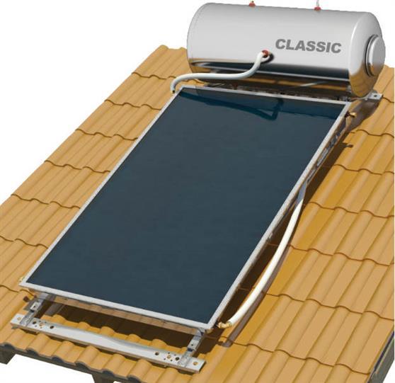 Επιλεκτικού ΣυλλεκτηNobelClassic 160lt/2.6m2 Glass Επιλεκτικός Τριπλής Ενέργειας Για Αντλία Κεραμοσκεπής