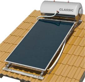 Nobel Classic 160lt/2.6m2 Inox Επιλεκτικός Τριπλής Ενέργειας Κεραμοσκεπής