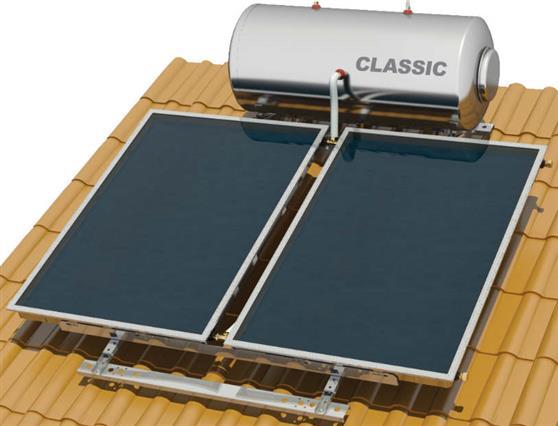 Επιλεκτικού ΣυλλεκτηNobelClassic 160lt/3.0m2 Glass Επιλεκτικός Τριπλής Ενέργειας Κεραμοσκεπής
