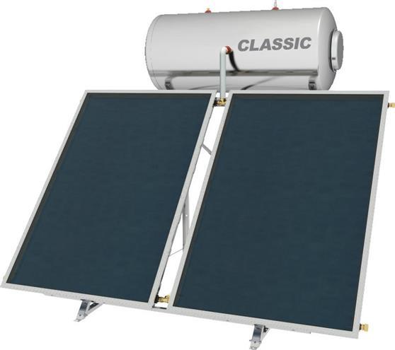 Επιλεκτικού ΣυλλεκτηNobelClassic 160lt/3.0m2 Inox Επιλεκτικός Τριπλής Ενέργειας Για Αντλία Ταράτσας