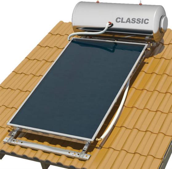 Επιλεκτικού ΣυλλεκτηNobelClassic 200lt/2.6m2 Inox Επιλεκτικός Διπλής Ενέργειας Κεραμοσκεπής