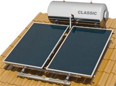 Nobel Classic 200lt/3.0m2 Glass Επιλεκτικός Τριπλής Ενέργειας Για Αντλία Κεραμοσκεπής