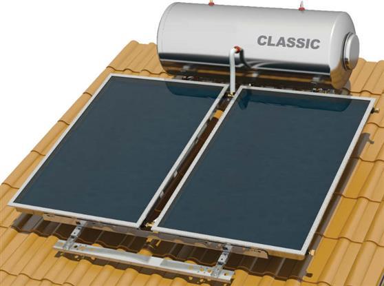Επιλεκτικού ΣυλλεκτηNobelClassic 200lt/3.0m2 Inox Επιλεκτικός Τριπλής Ενέργειας Για Αντλία Κεραμοσκεπής