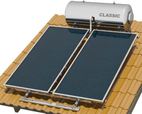 Επιλεκτικού ΣυλλεκτηNobelClassic 200lt/4.0m2 Inox Επιλεκτικός Τριπλής Ενέργειας Για Αντλία Κεραμοσκεπής
