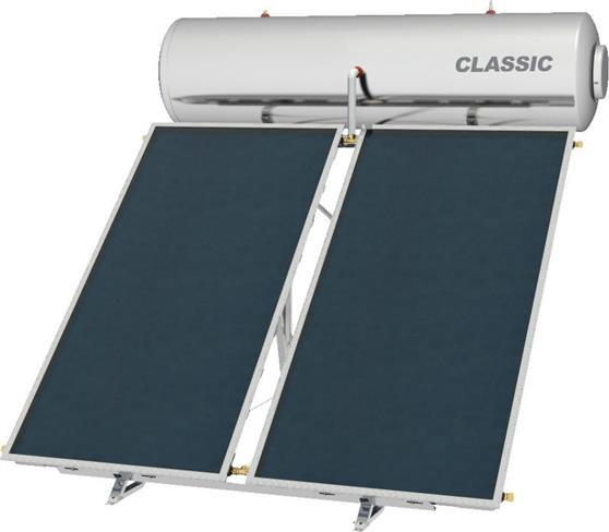 Επιλεκτικού ΣυλλεκτηNobelClassic 300lt/4.0m2 Glass Επιλεκτικός Τριπλής Ενέργειας Για Αντλία Ταράτσας
