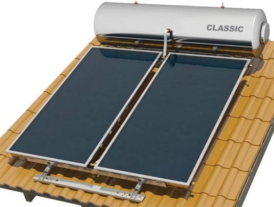 Επιλεκτικού ΣυλλεκτηNobelClassic 300lt/5.2m2 Glass Επιλεκτικός Τριπλής Ενέργειας Για Αντλία Κεραμοσκεπής