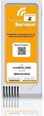 Αξεσουάρ ΘερμοπομπώνNoirotSmart ECO control Κιτ Επικοινωνίας Πορτοκαλί Μονάδα Λευκό